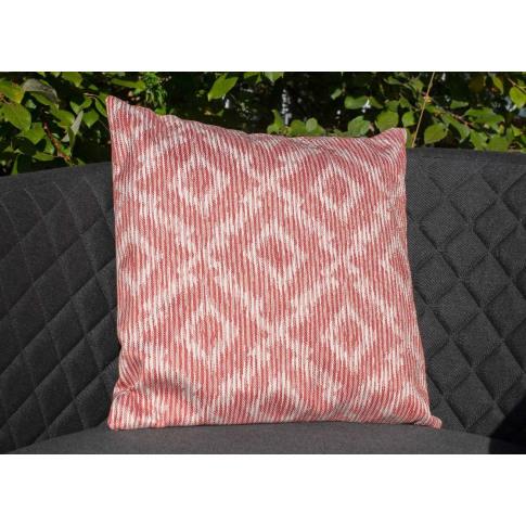 Maze Santorini Red Fabric Scatter Cushion
