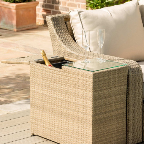 Maze Tuscany Natural Rattan Ice Bucket Side Table