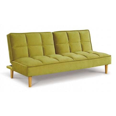 Lokken Green Velvet Sofa Bed
