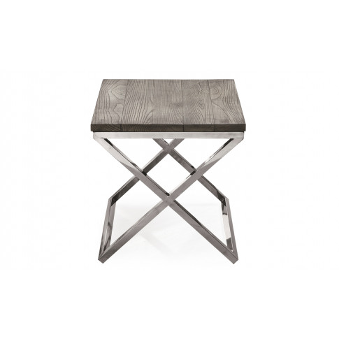 Tephra Grey Wooden Lamp Table