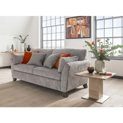 Cantrell Silver 2 Seater Fabric Sofa
