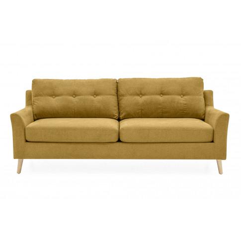Olten 3 Seater Citrus Fabric Sofa