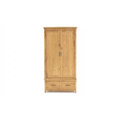 Ramore 2 Door 2 Drawer Oak Wardrobe