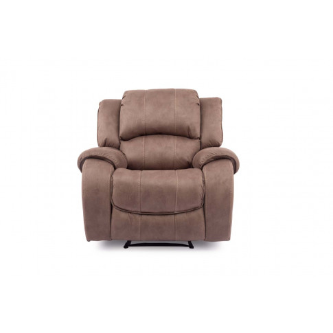 Darwin Brown Fabric Electric Recliner Armchair