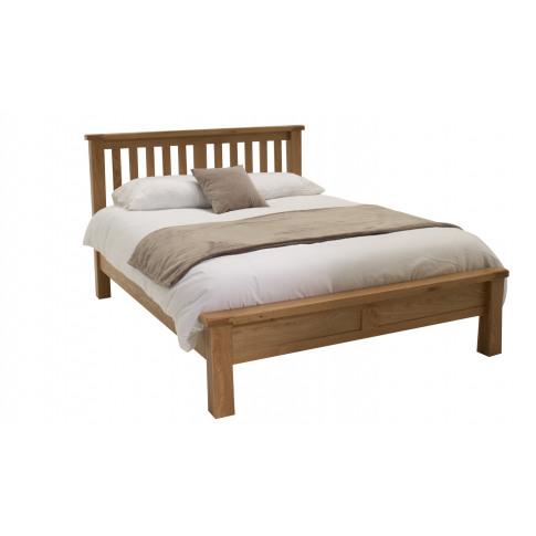 Breeze Oak 6ft Super Kingsize Low Footboard Bed
