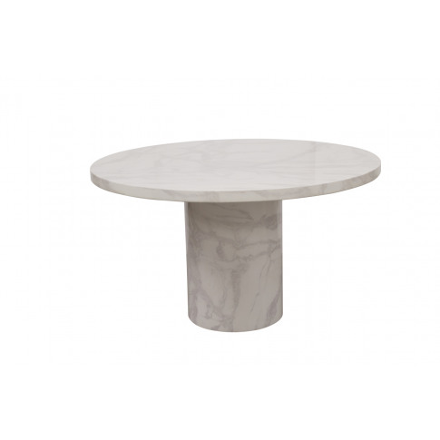Carra 80cm White Round Marble Coffee Table