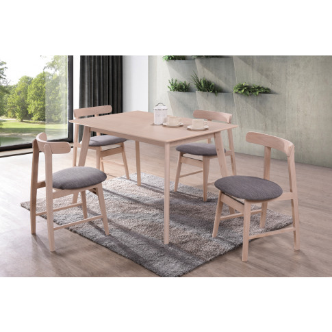 Isla 120cm Rectangle Natural Wooden Dining Table