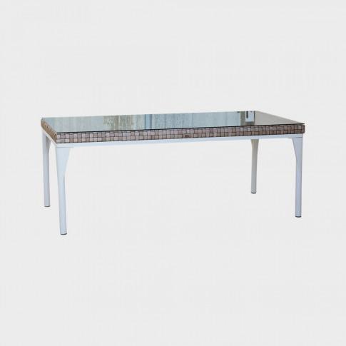 Skyline Brafta Rattan 8 Seater Rectangular Dining Table