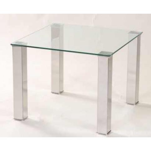 Mezzi Clear Glass Lamp Table