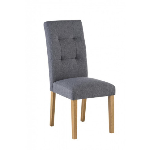 Misty Grey Fabric Dining Chair