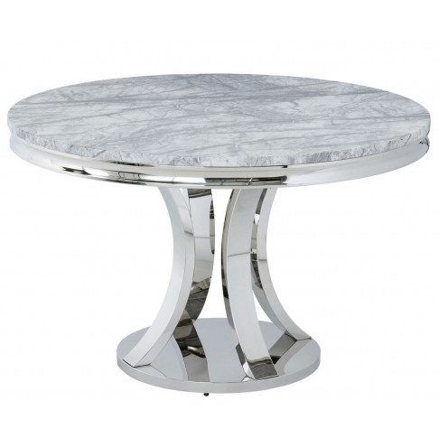 Mitzi 120cm Round Grey Marble Dining Table