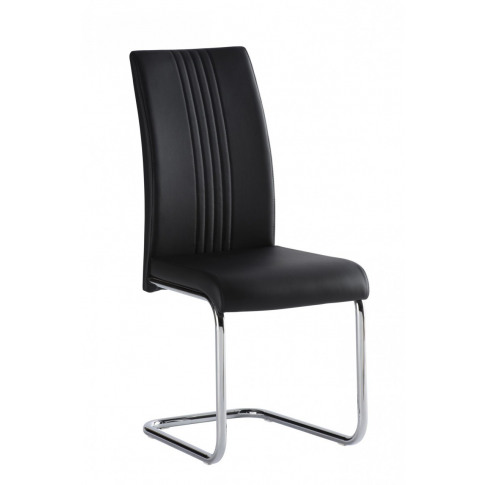 Monaco Black Leather Dining Chair
