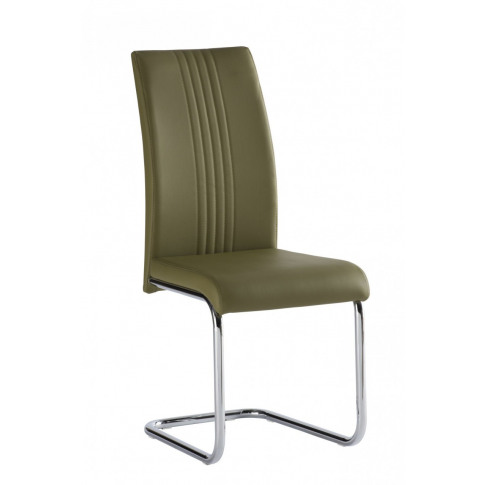 Monaco Olive Green Leather Dining Chair