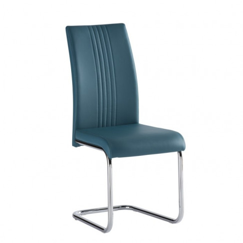 Monaco Blue Pu Leather Dining Chair