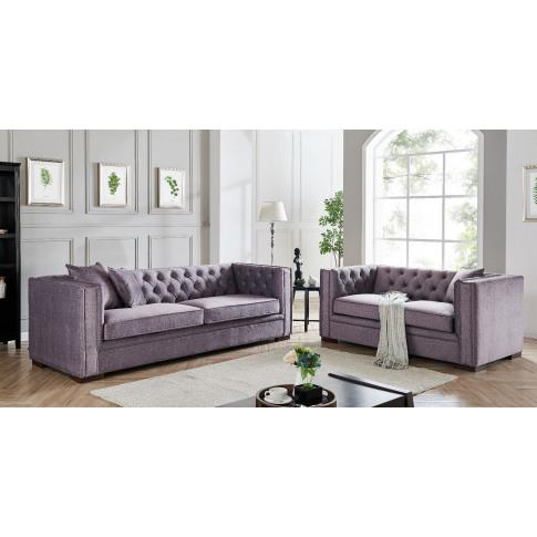 Montreal Slate Grey Fabric 3+2 Seater Sofa Set