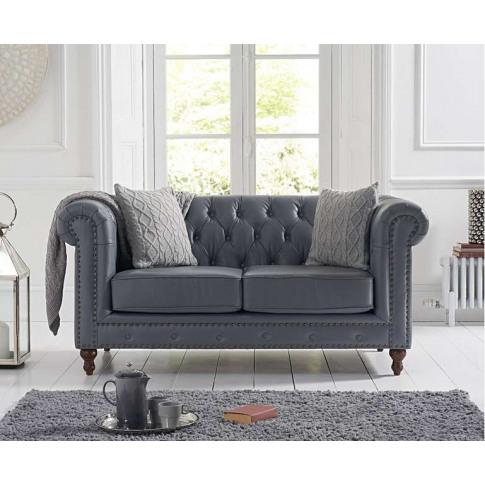 Montrose Grey Leather 2 Seater Sofa