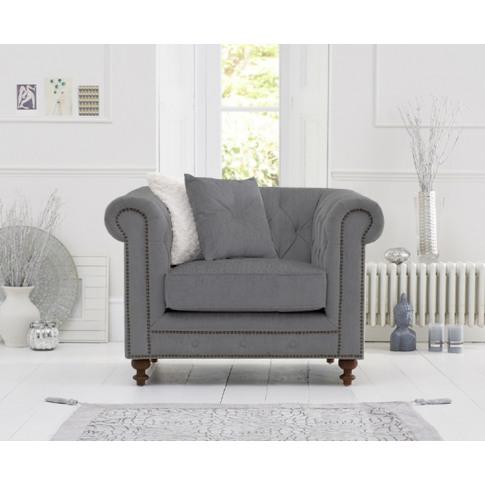 Montrose Grey Linen Fabric Armchair