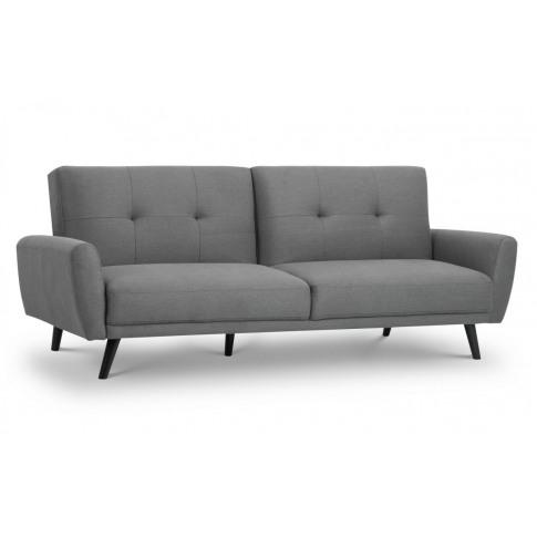 Julian Bowen Monza Grey Fabric Compact Retro Sofabed