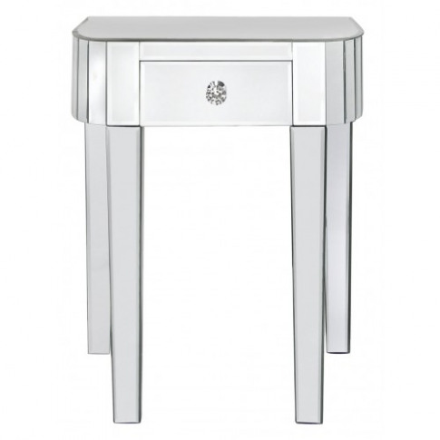Clinton Classic Mirror 1 Drawer Small Lamp Table