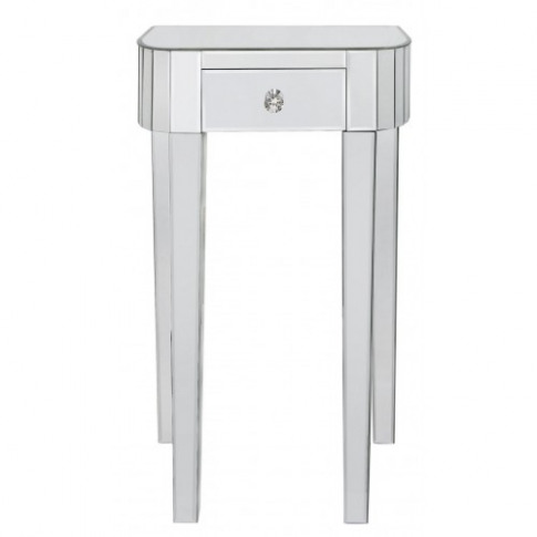 Clinton Classic Mirror 1 Drawer Lamp Table