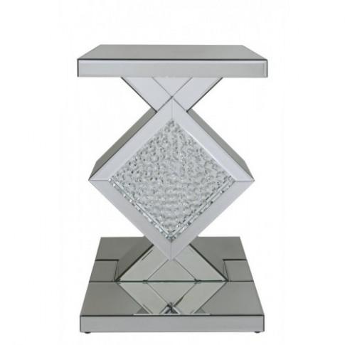 Astra Mirror Diamond End Table