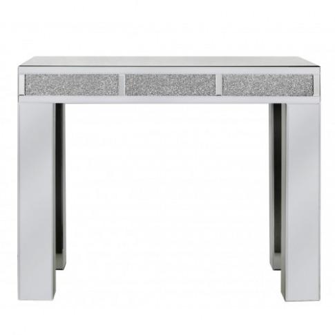 Massimo Mirror Bricks Console Table