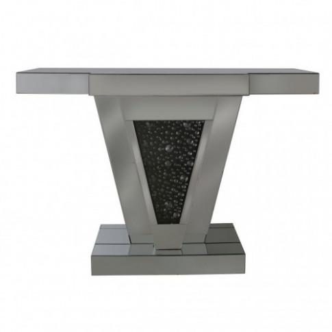 Deco Black Mirror Console Table