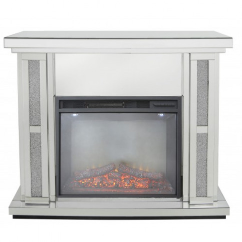 Massimo Mirror Fire Surround With Electric Fire (Set)