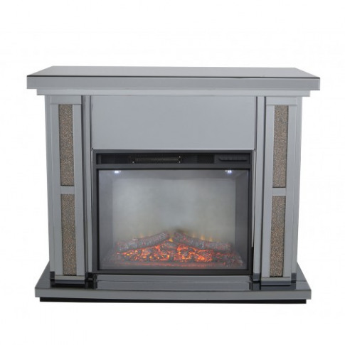 Massimo Smoked Mirror Copper Fire Surround With Elec...