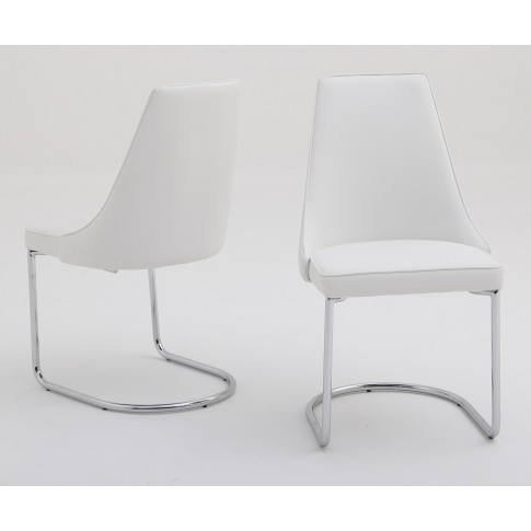 Fairmont Mya White Leather Dining Chair