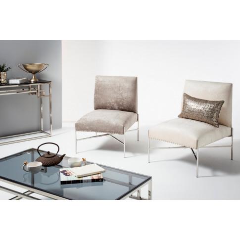 Myra Slate Fabric Accent Chair