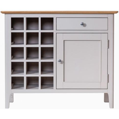 Nalto Dove Grey Wine Cabinet