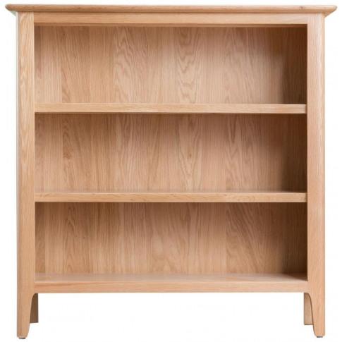 Nalto Light Oak Small Wide Bookcase