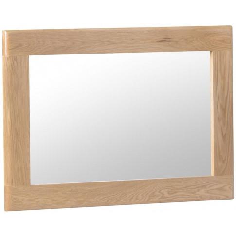 Nalto Light Oak Wall Mirror