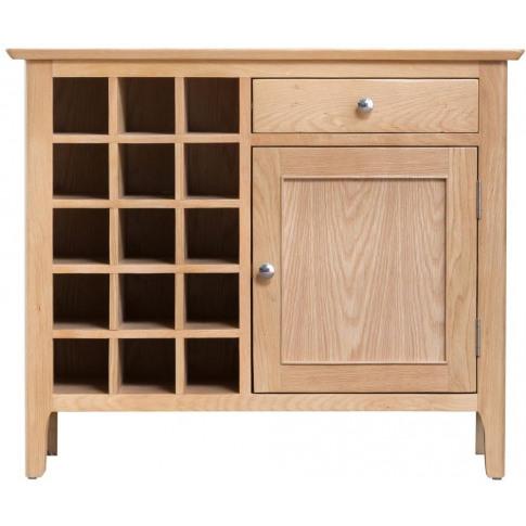 Nalto Light Oak Wine Cabinet