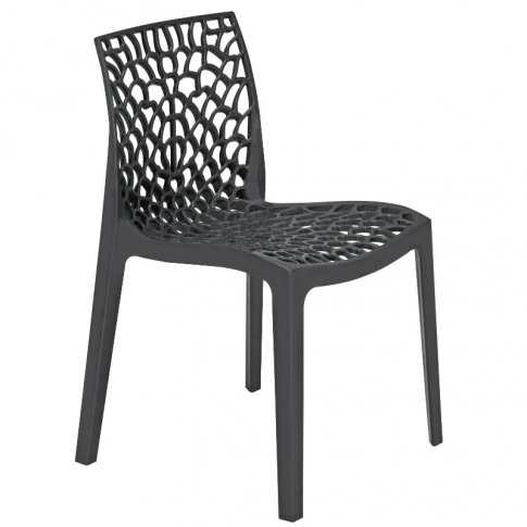 Neptune Anthracite Polypropylene Stacking Dining Chair