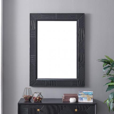 Orlando Black Rectangular Wall Mirror