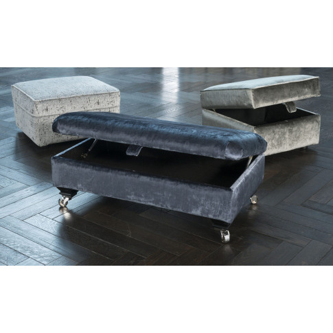 Alstons Fleming Fabric Footstool
