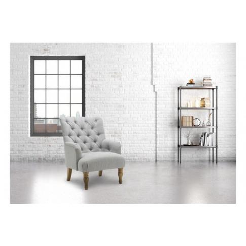 Birlea Padstow Grey Fabric Armchair