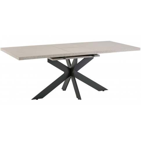 Palermo 160cm Ext. Grey Marble Effect Dining Table
