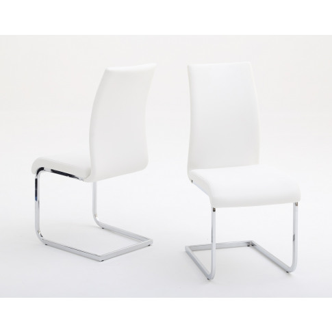 Fairmont Paolo White Leather Dining Chair