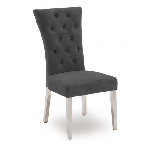 Pembroke Charcoal Polished Stainless Steel Dining Chair