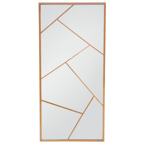Phoenix Rose Gold Frame Floor Standing Mirror