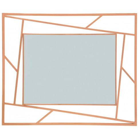 Phoenix Rose Gold Frame Wall Mirror