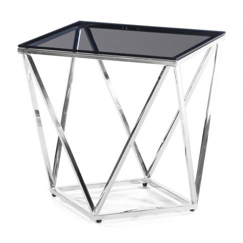 Fairmont Pirlo Black Glass Side Table