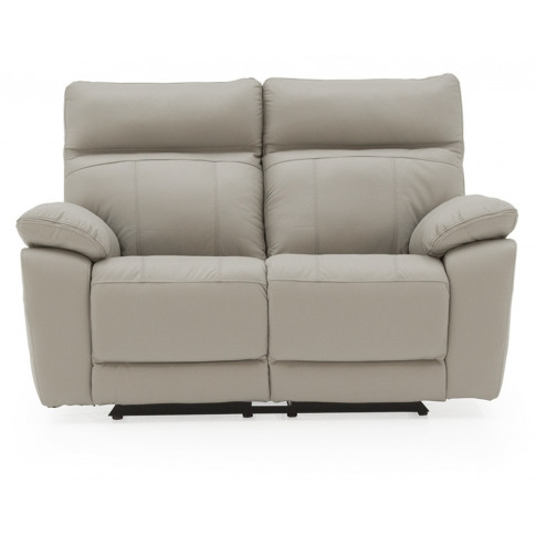 Positano 2 Seater Light Grey Leather Electric Recliner Sofa