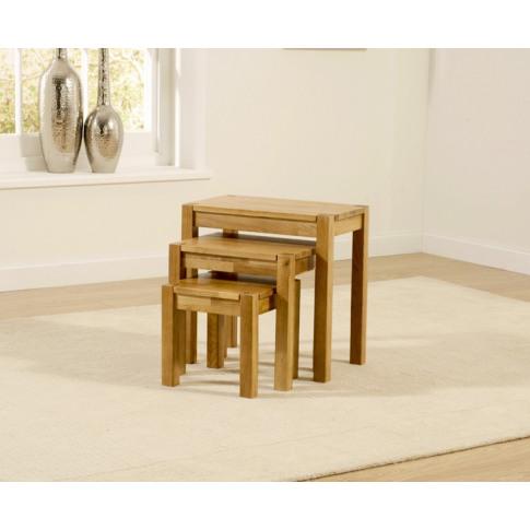 Promo Oak 3 Piece Nest Of Tables