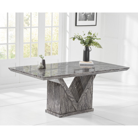 Minsk 160cm Grey Marble Rect. Dining Table