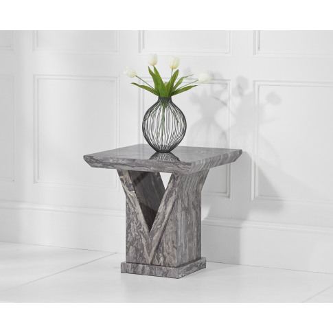 Minsk Grey Marble Lamp Table