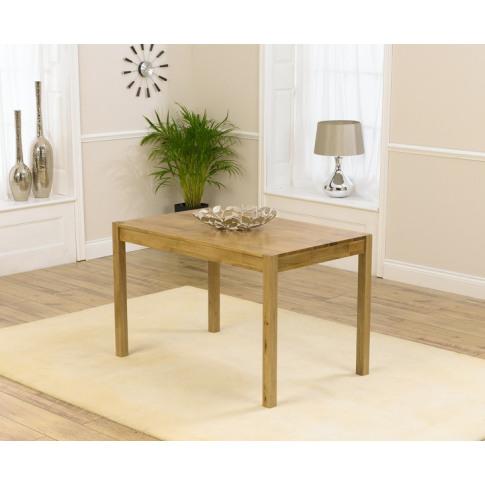 Promo 120cm Solid Oak Rectangular Dining Table